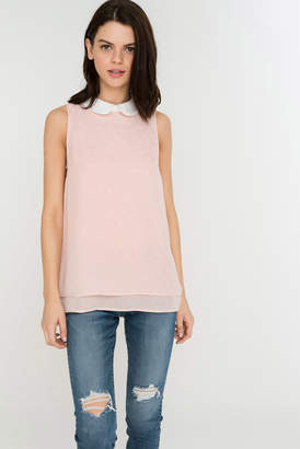 Ardene Collared Sleeveless Top