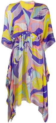 Emilio Pucci Rivera Print Silk Beach Dress