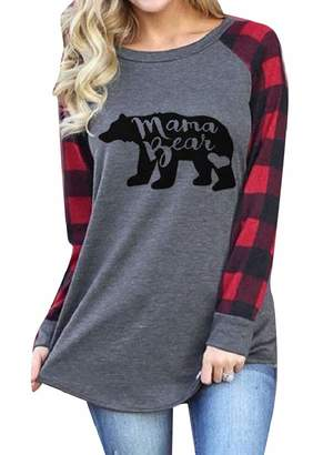 FreelyWomen Oversize Letter Printed Pullover Leisure Tees Blouse L