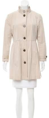 Gryphon Mock Neck Button-Up Coat