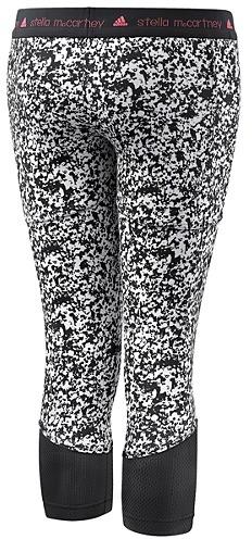 adidas by Stella McCartney Run Three-Quarter Printed Tights