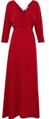Diane von Furstenberg Washed-Silk Wrap Maxi Dress