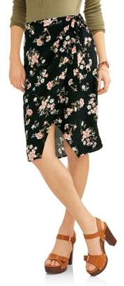 New Look Floral Wrap Skirt