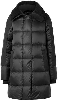 Canada Goose Altona Shearling And Leather-trimmed Quilted Shell Parka - Black