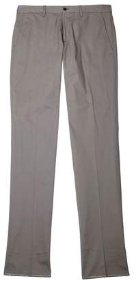 Emporio Armani Grey Slim-leg Stretch-cotton Chinos