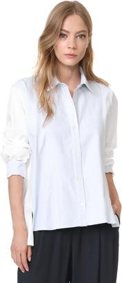 Clu Stripe Pleated Shirt $306 thestylecure.com