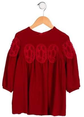 Chloé Girls' Embroidered Long Sleeve Dress