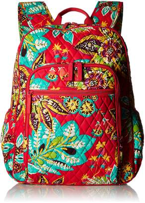 Vera Bradley Women's Campus Tech Backpack, Signature Cotton, Rumba