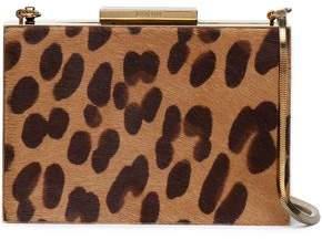 Lanvin Leopard-Print Calf Hair Box Clutch