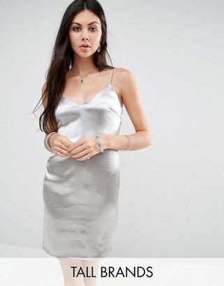 Glamorous Tall Metallic Cami Slip Dress $39 thestylecure.com