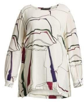 Marina Rinaldi Marina Rinaldi, Plus Size Fatalita Abstract Print Blouse