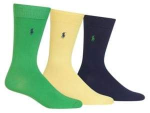 Polo Ralph Lauren Solid Trouser Socks 3-Pack
