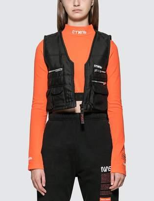 Heron Preston Fire Multi Pockets Vest Jacket