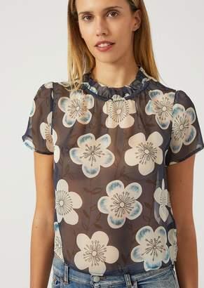 Emporio Armani Floral Silk Chiffon Blouse