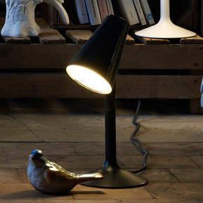Designer-LED-Tischleuchte Piculet in Schwarz
