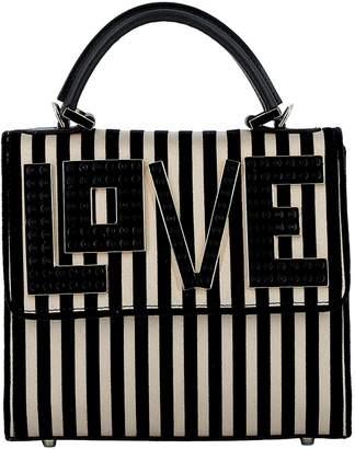 Les Petits Joueurs Black/white Satin Handbag
