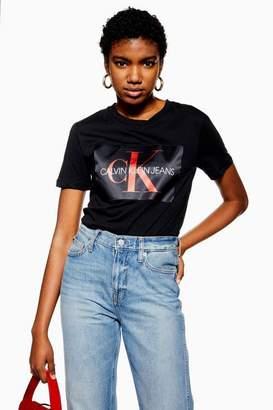 Calvin Klein Womens Box Logo T-Shirt