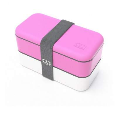 Monbento Pink & White 2-compartment Bent...