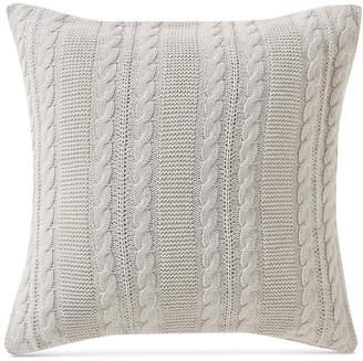 """Victoria Classics Dublin Cable-Knit 18"""" Square Decorative Pillow"""