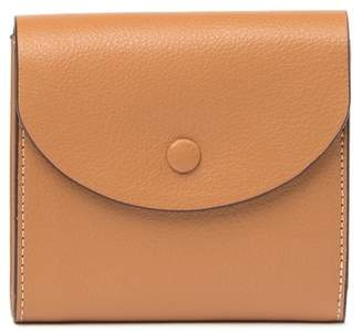 Halogen Leather Curve Flap French Wallet