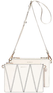 Modalu Jessica Leather Cross Body Bag, White Choc