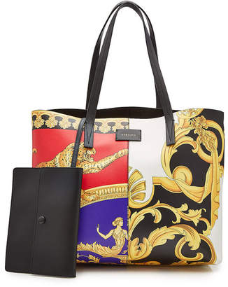 Versace Pillow Talk-Barocco Mix Print Leather Tote