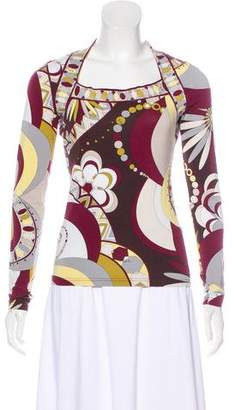Emilio Pucci Long Sleeve Top