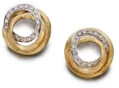 Marco Bicego Jaipur Link Diamond& 18K Yellow Gold Stud Earrings