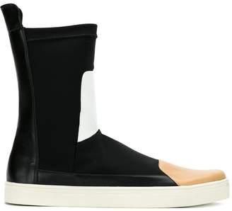 Gloria Coelho mid calf panelled sneakers