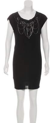 Alice + Olivia Sleeveless Mini Dress Black Sleeveless Mini Dress
