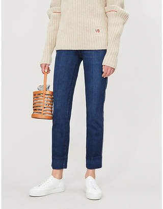 Paige Hoxton high-rise faded skinny jeans