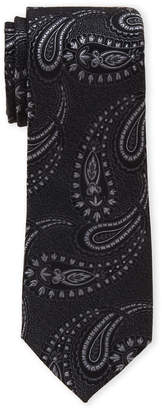 Perry Ellis Portfolio Black Legere Paisley Silk Tie