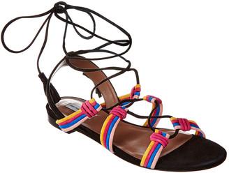 Tabitha Simmons Jax Suede Ankle-Wrap Sandal