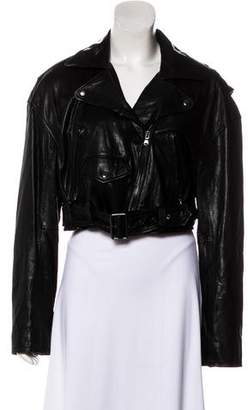 Tibi Leather Moto Jacket