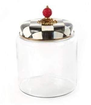 """Mackenzie Childs Courtly Check Kitchen Canister/9.5"""""""
