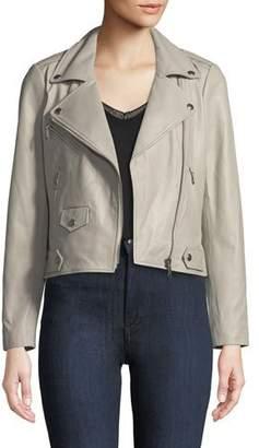 Rebecca Minkoff Wes Zip-Front Leather Moto Jacket