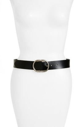 Women's Treasure & Bond Twisted Buckle Leather Belt $49 thestylecure.com