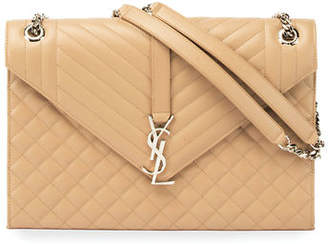 Saint Laurent Monogram Large Chain Matelassé Shoulder Bag