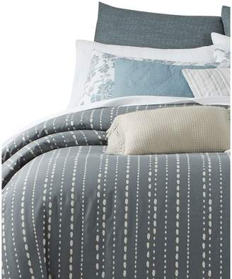 Martha Stewart 10-Piece Reversible Rain Drop Striped Comforter Set