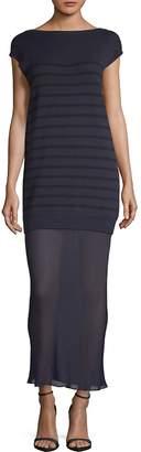 Alexander Wang Women's Striped Knit Sheer-Hem Maxi Dress