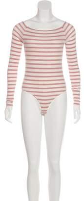 ATM Striped Long Sleeve Bodysuit