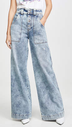 Jonathan Simkhai Classic Denim Carpenter Leg Pants