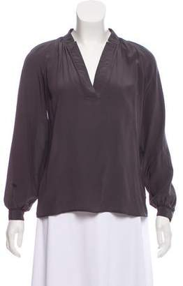 Tucker V-Neck Blouse