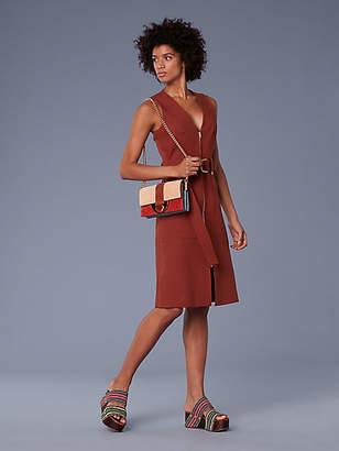 Diane von Furstenberg Sleeveless A-Line Zip Front Dress