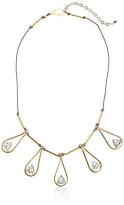 Kris Nations Angel Fire Swarovski Crystal Teardrop Bib Necklace
