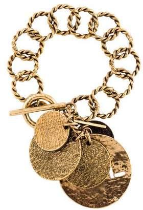 Hammered Disc Charm Bracelet