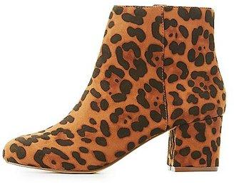 Leopard Low-Heel Ankle Bootie $38.99 thestylecure.com