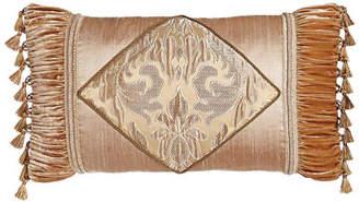 "Dian Austin Couture Home Modern Maiden Pieced Pillow with Tassel Trim, 19"" x 35"""