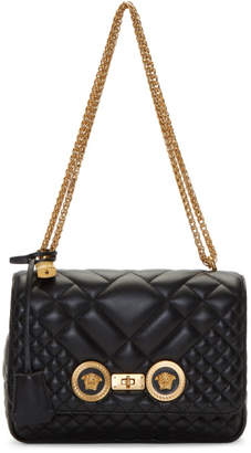 Versace Black Medium Medusa Tribute Quilted Chain Bag