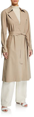 Harris Wharf London Raglan Light Trench Coat w/ Tie Cuffs